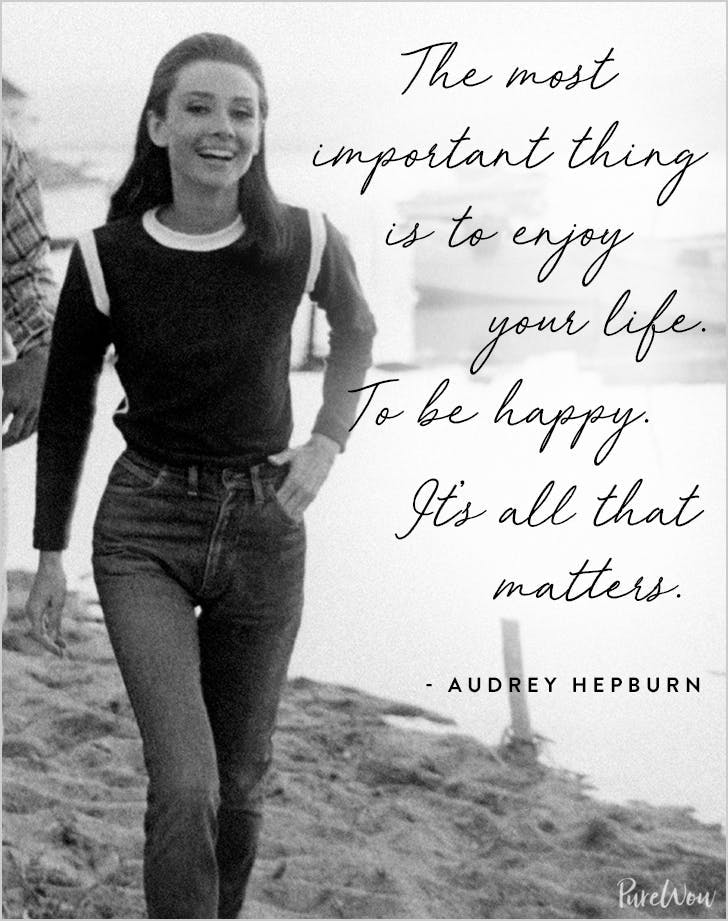 best audrey hepburn quotes most important thing