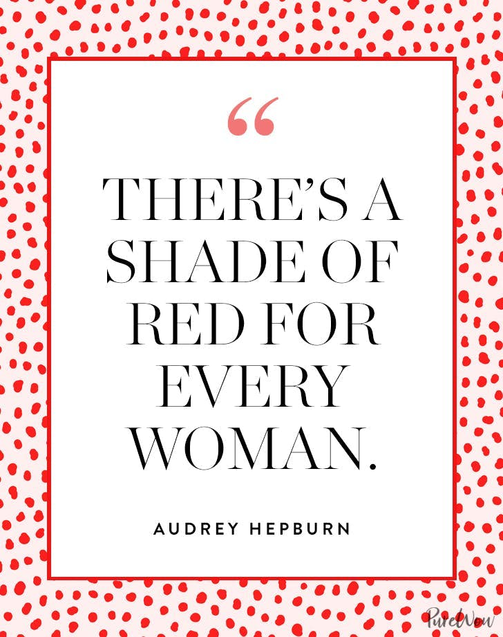 best audrey hepburn quotes shade of red