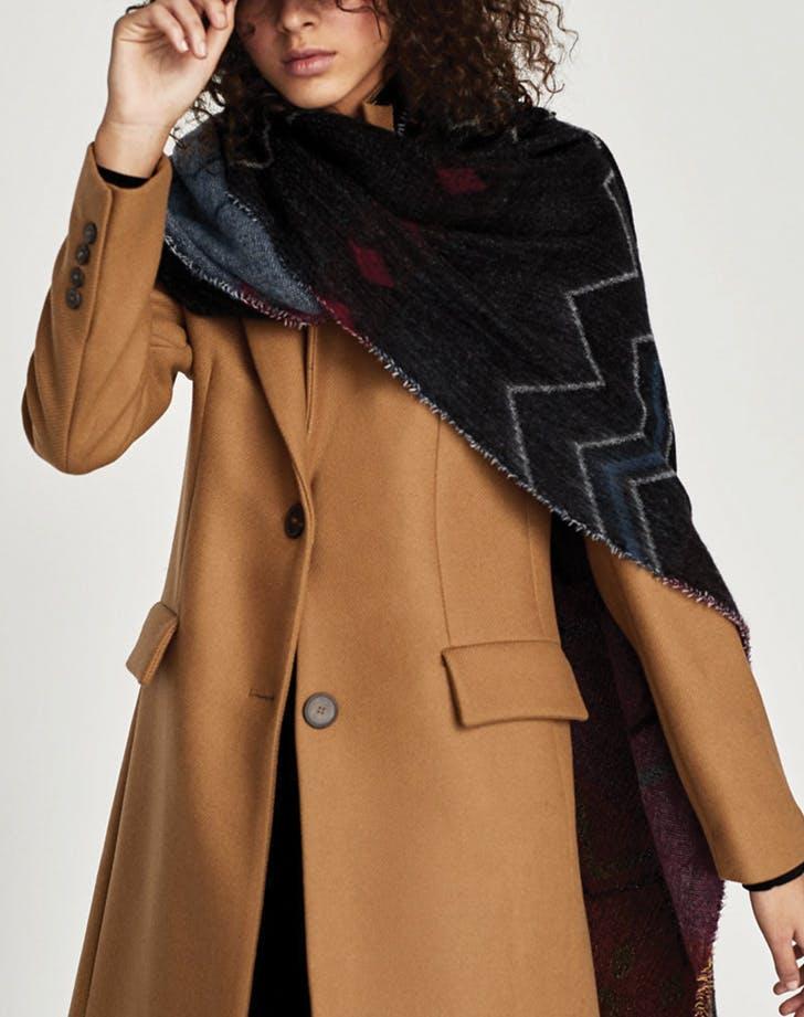 blanket scarf zara