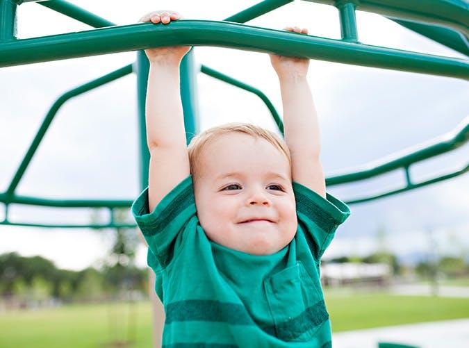 boy playing green shirt SLIDE