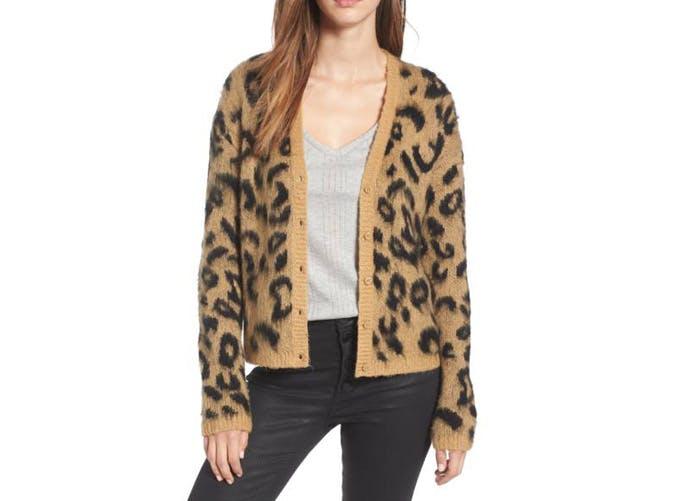 bp leopard print cardigan  22
