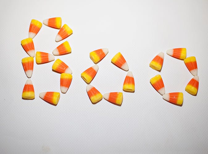 candy corn boo 501