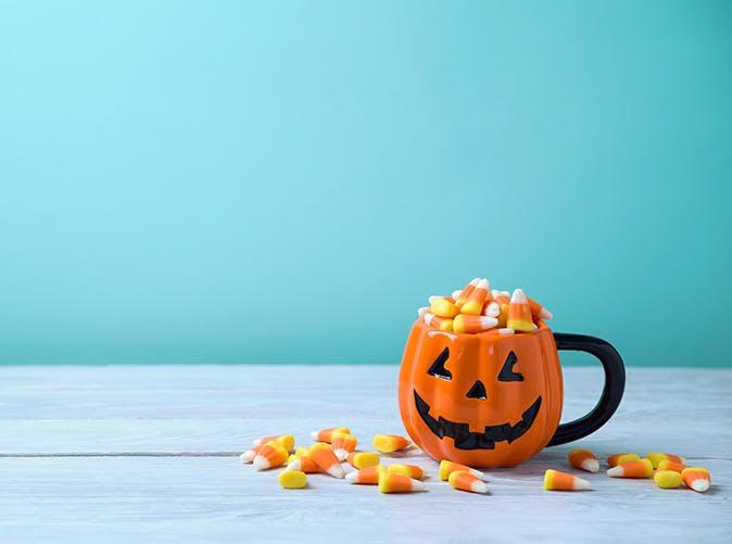 candy corn mug 501