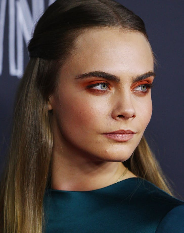 cara delevigne red eyeshadow trend