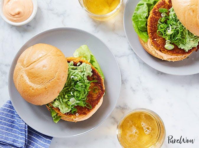 cauliflower sweet potato burgers 501