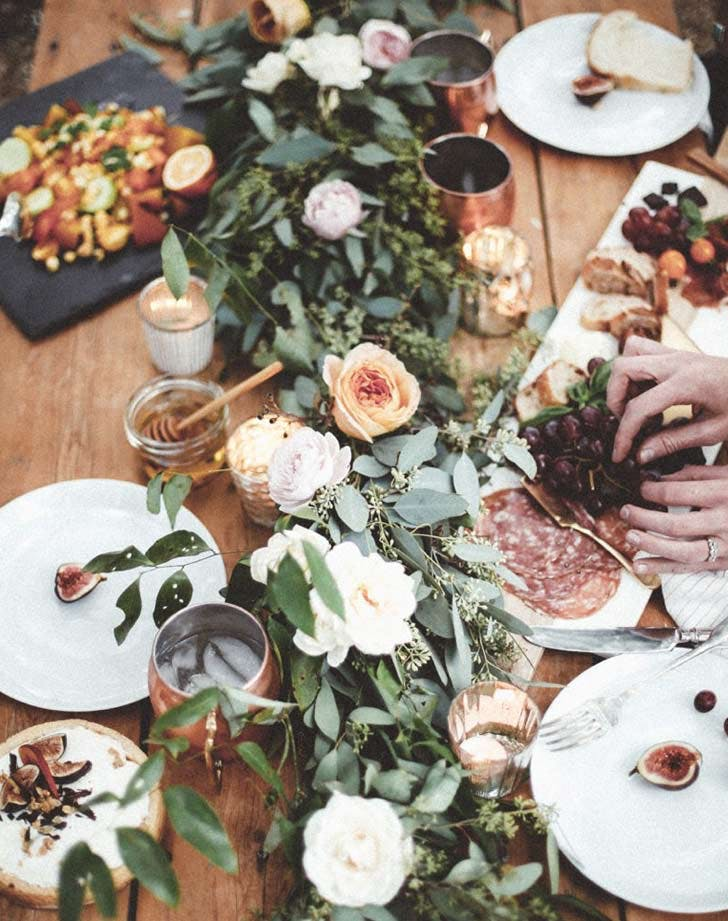 charcuterie floral fall tablescape LIST