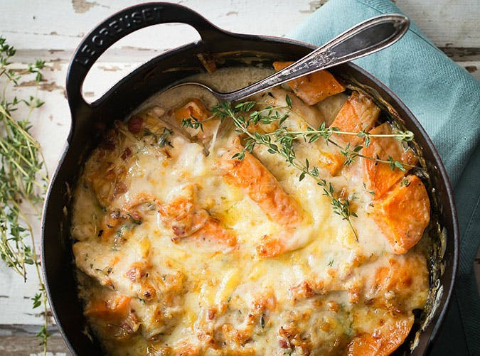 chicken sweet potato casserole recipe
