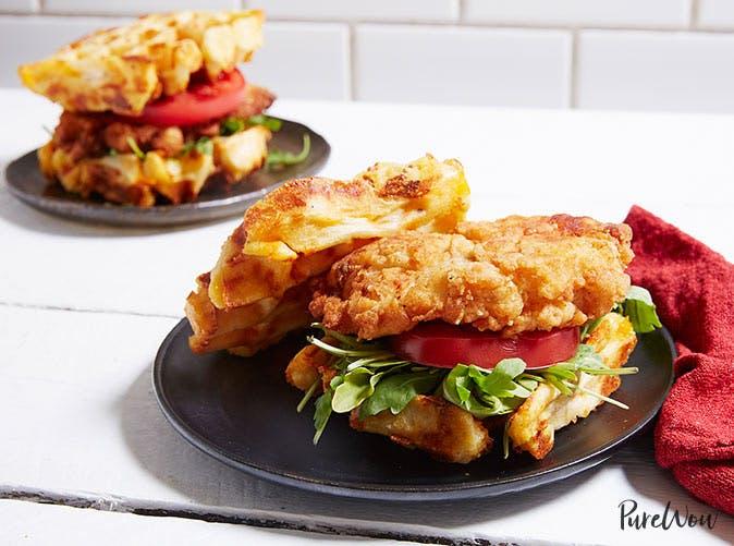 chicken waffle sandwiches 501