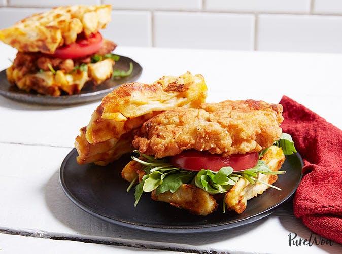chicken waffle sandwiches 5011