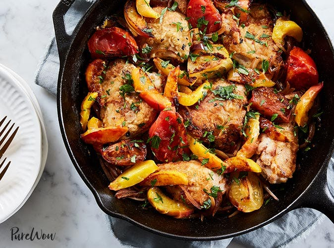 chicken with peaches and tomatoes 501