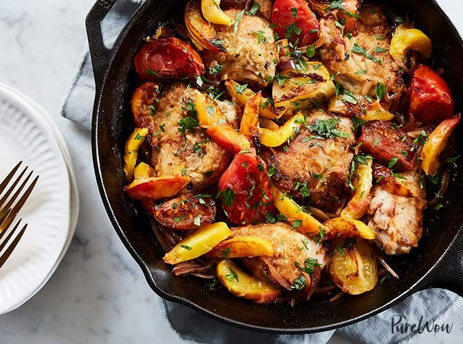 chicken with peaches and tomatoes 5011