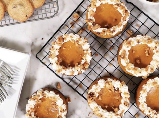 chocolate chip cookie pumpkin cheesecakes 501