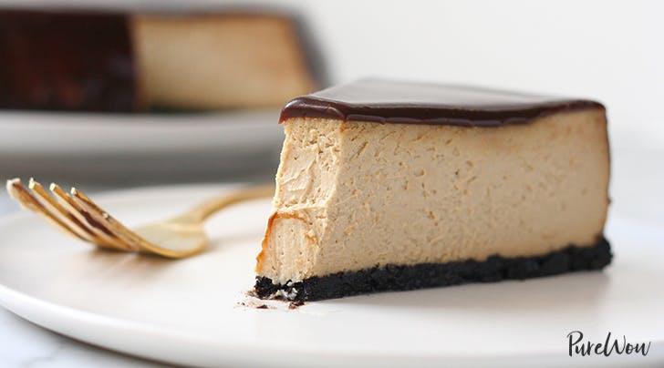 Chocolate Glazed Espresso Cheesecake