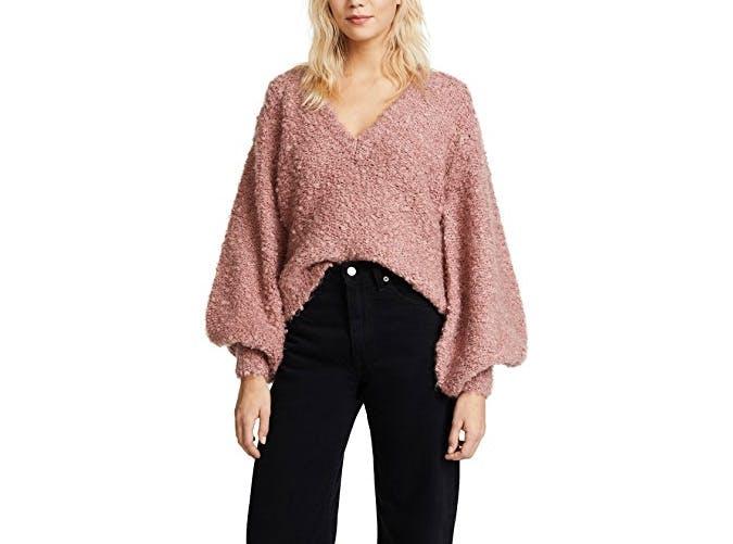 cmeo balloon sleeve sweater  16
