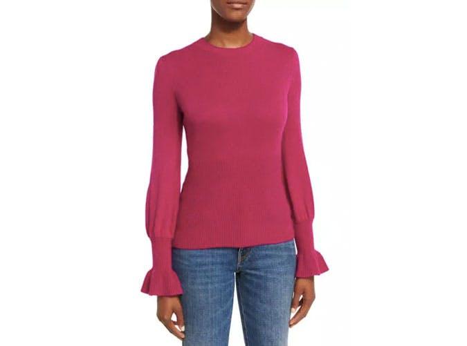 co fuscia sweater  10