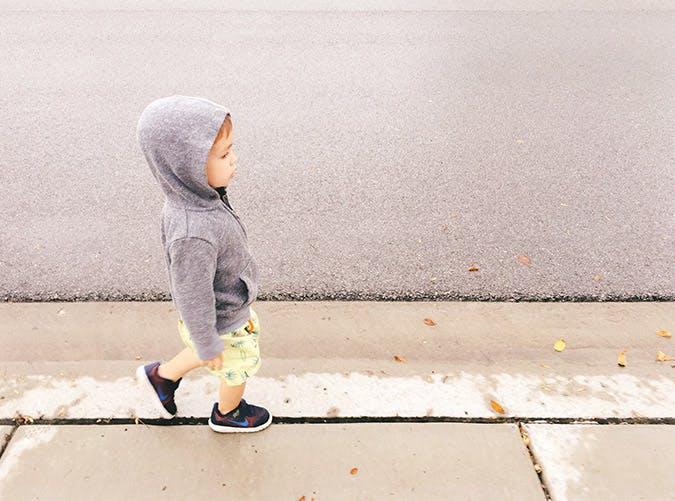 cool toddler in hoodie SLIDE