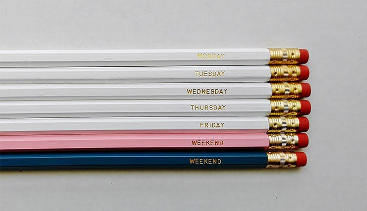 day of the week pencils amazon homemade shop