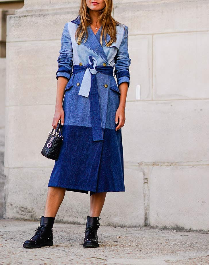 denim trench coat fall staples NY