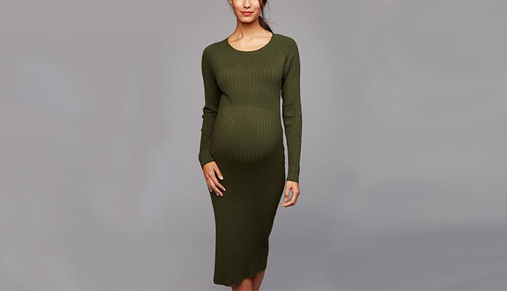 destination maternity fitted sweater dress maternity clothing