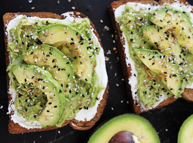 everything bagel avocado toast SLIDE