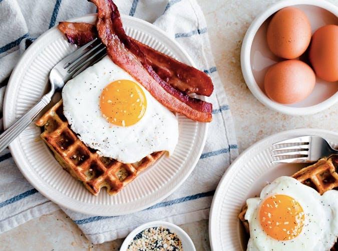 everything bagel breakfast waffles SLIDE