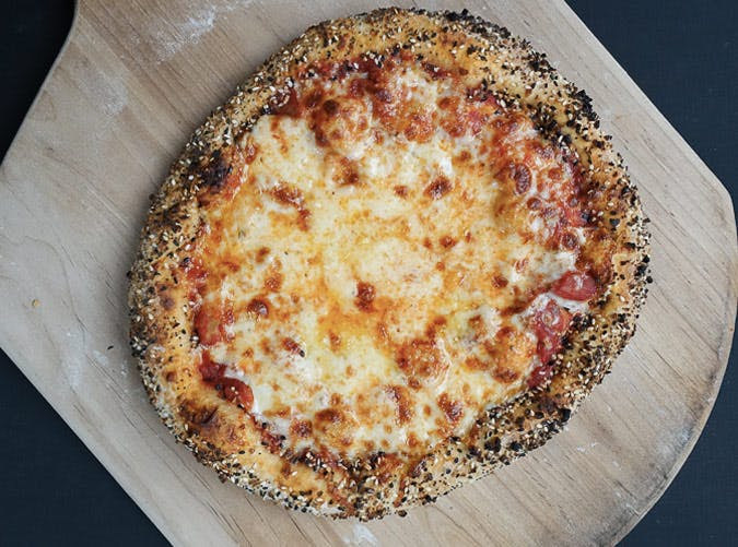 everything bagel crust pizza SLIDE