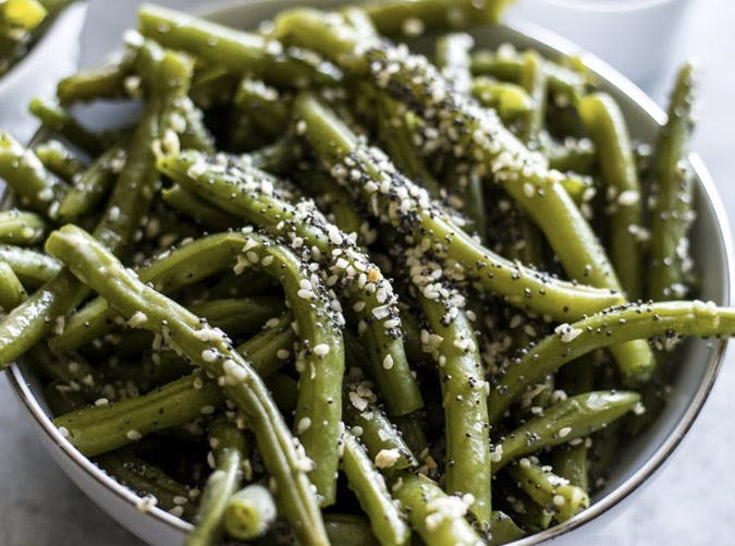 everything bagel green beans SLIDE