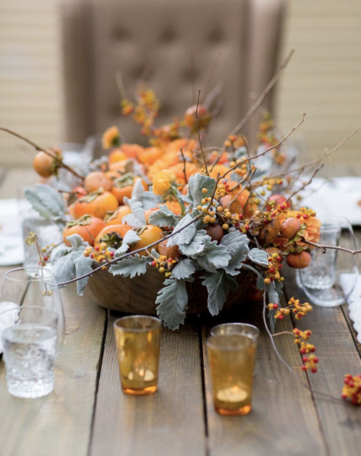 fall tablescape orange centerpiece LIST