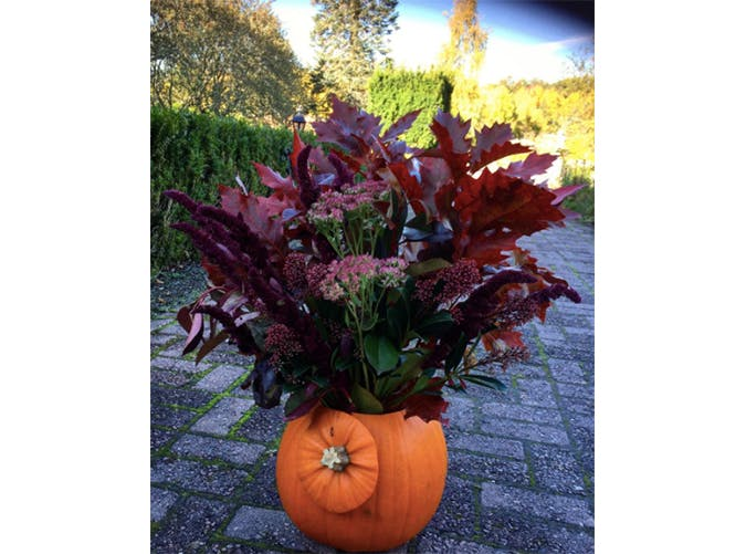 falldecor pumpvase