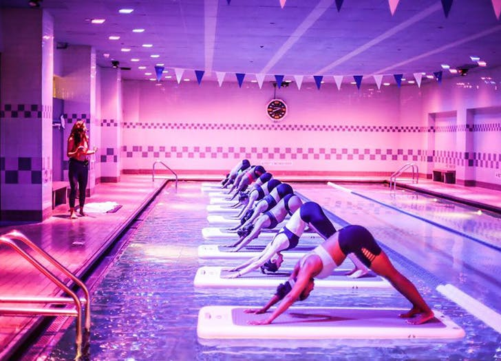 fitness trends water yoga