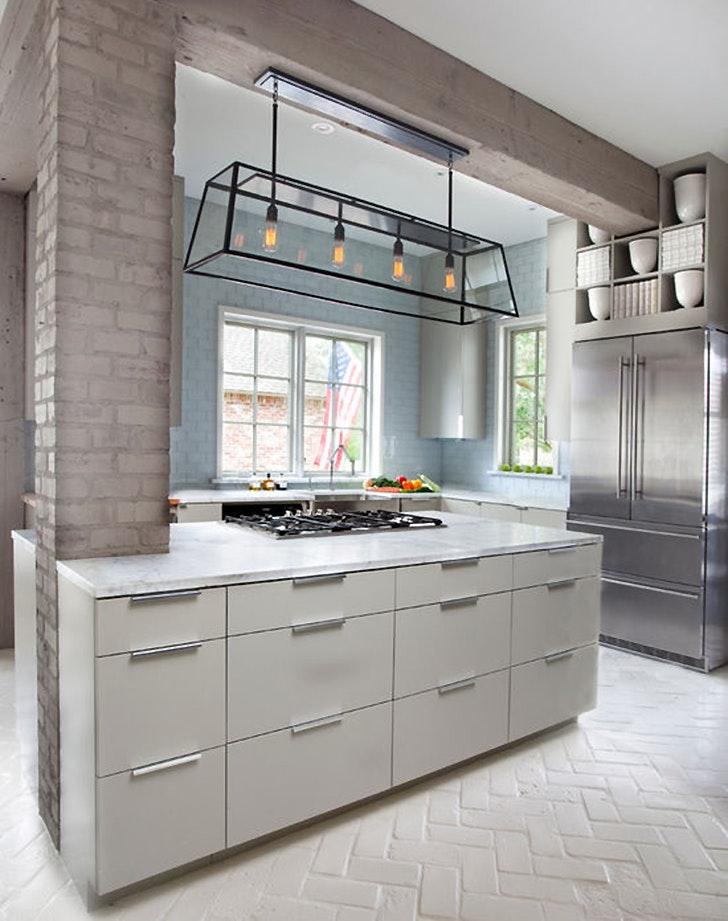 Flooring Ideas Kitchen Part - 47: Flooring Options Unique Brick Paint1