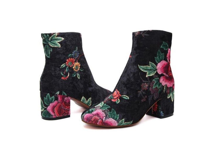 floral ankle booties replacement