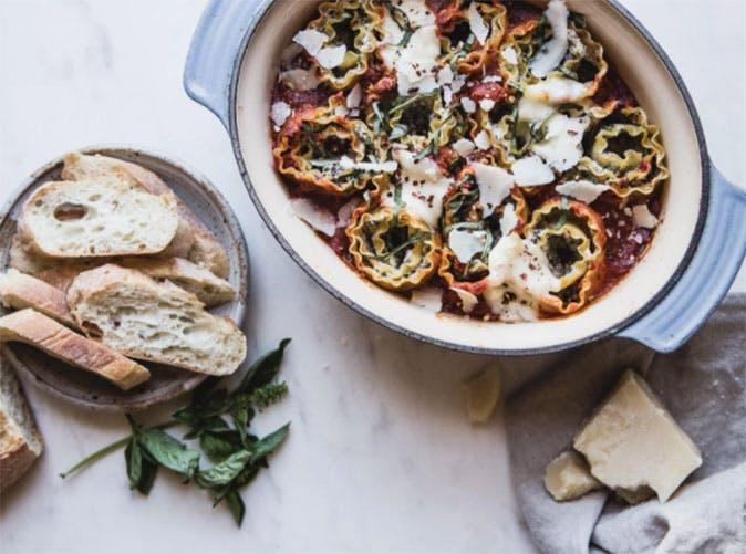 four cheese mushroom rolled lasagna 501
