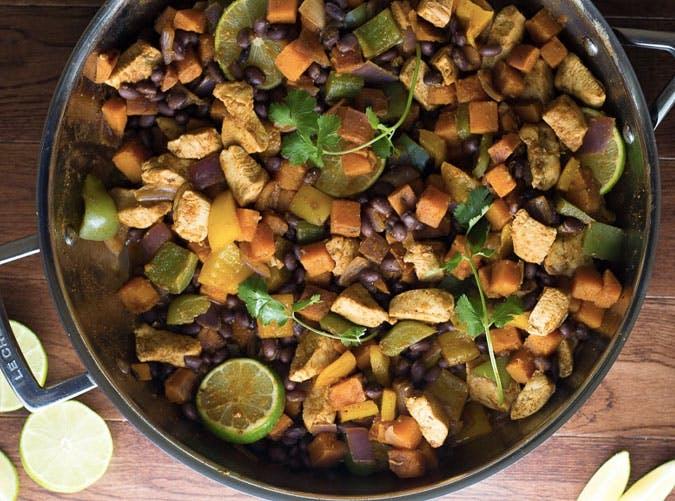 gluten free skillet chicken sweet potato SLIDE