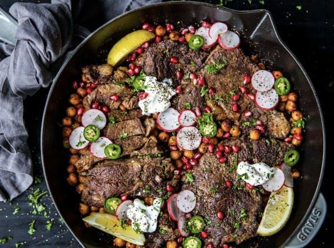 gluten free skillet curry steak SLIDE