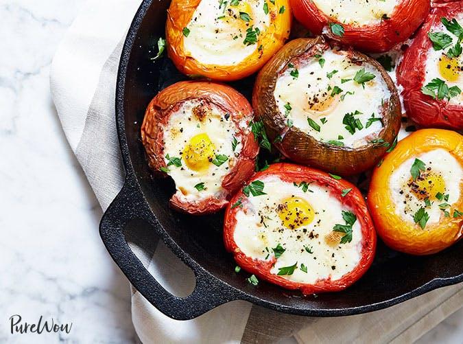 gluten free skillet eggs tomatoes SLIDE