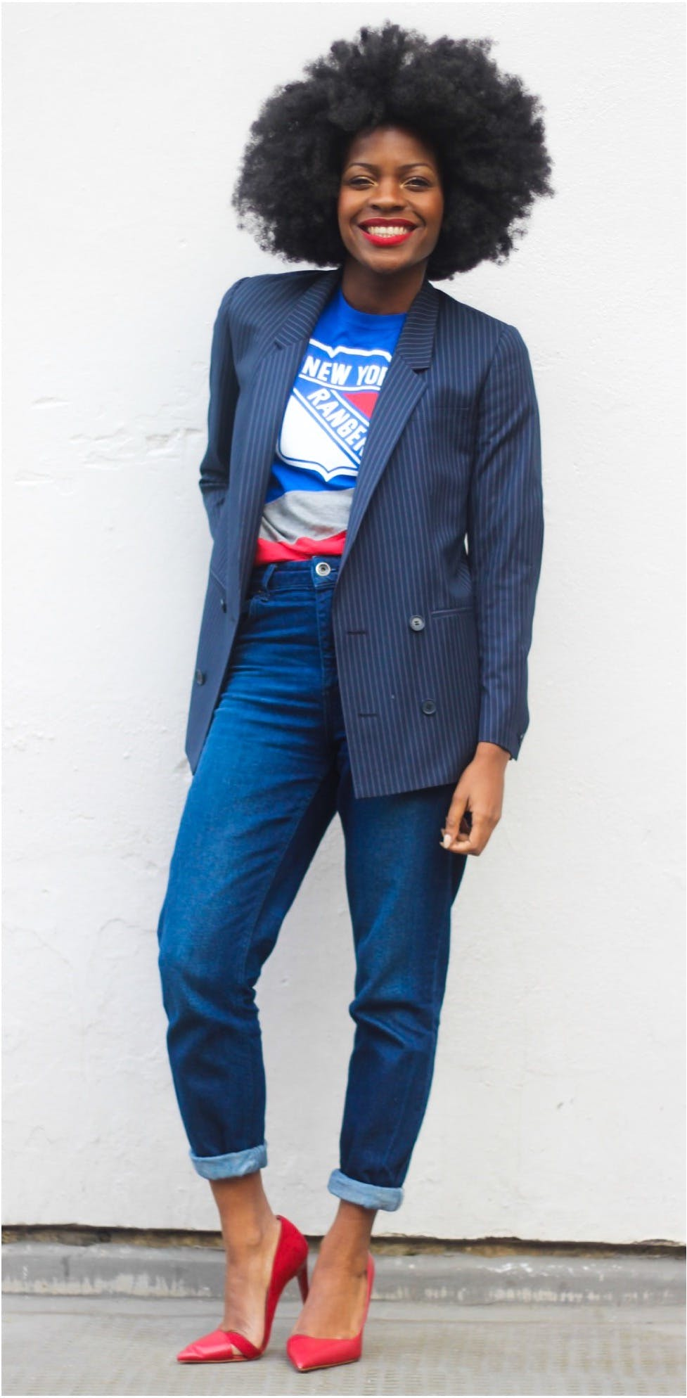 graphic tee with a blazer november style ideas freddie harrel