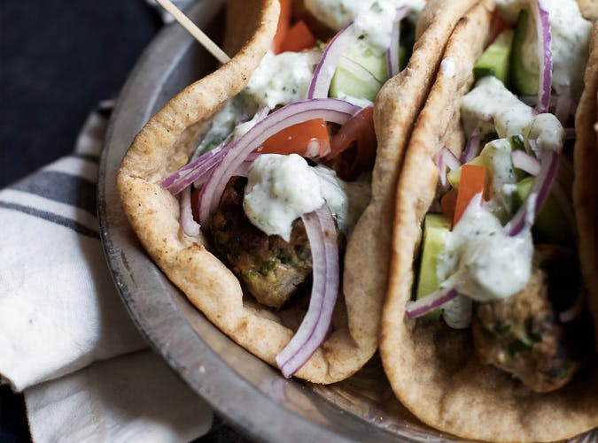 greek turkey meatball gyro SLIDE2