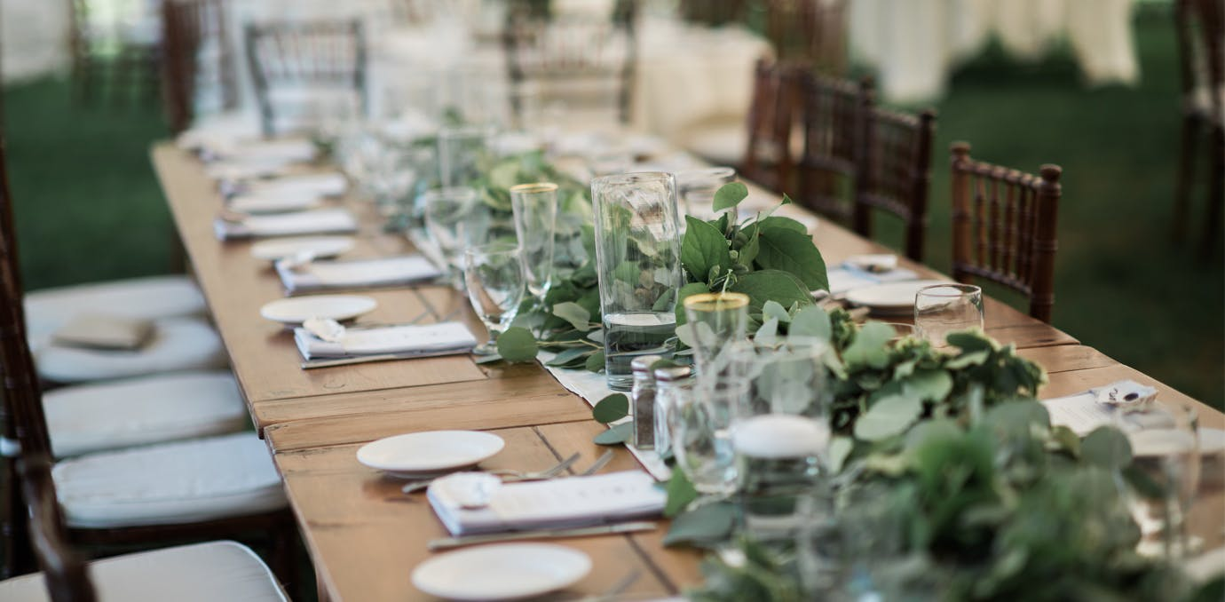 greenery wedding table decor