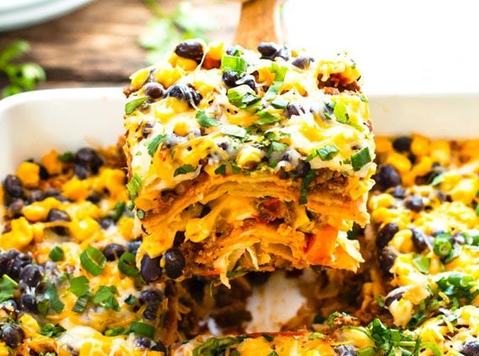 ground turkey mexican lasagna 501