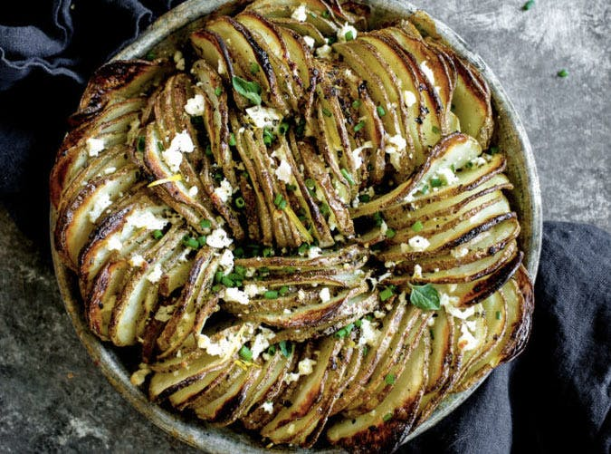 hasselback potato gratin SLIDE