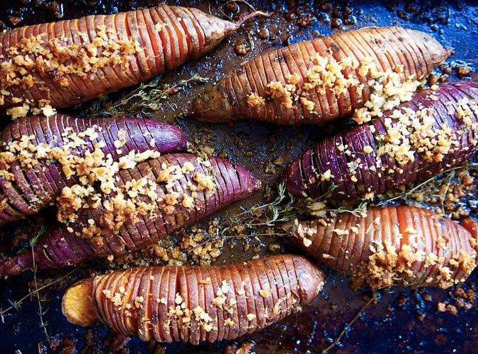 hasselback sweet potatoes SLIDE