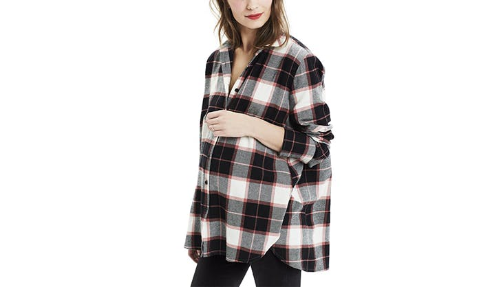 hatch collection flannel shirt maternity clothing