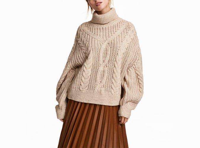 hm cable knit turtleneck  41