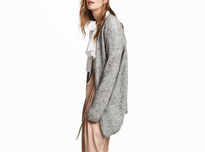hm gray cardigan  50