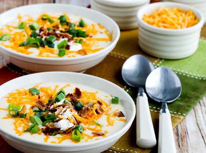 instant pot loaded cauliflower soup 501