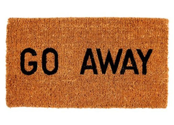 introvert gifts doormat