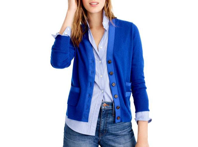 jcrew cobalt blue cardigan  2