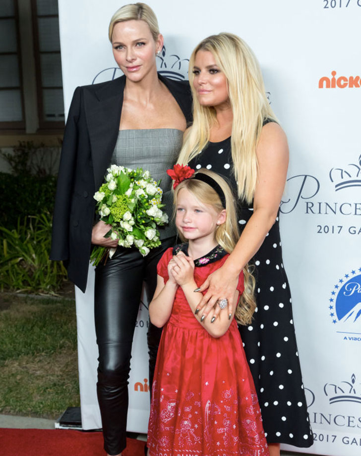 Jessica Simpson and Her Mini-Me Daughter Meet a Real-Life Princess