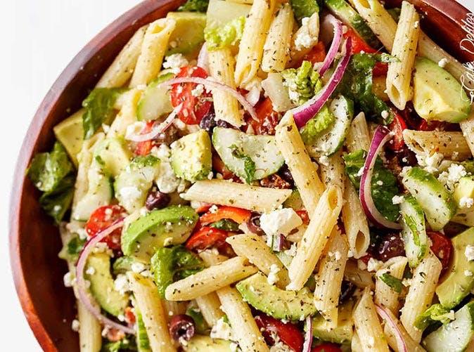 lemon herb mediterranean pasta salad 501